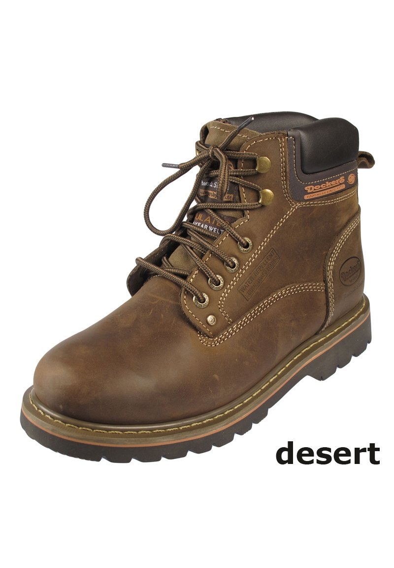 dockers herren warmfutter leder winterstiefel boots winter schnee stiefel schuhe ebay. Black Bedroom Furniture Sets. Home Design Ideas